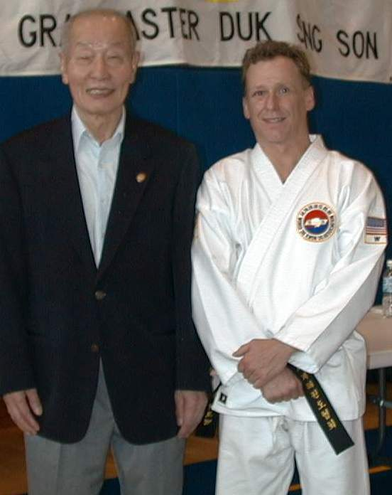 Master Son & Bob at 5th. Degree Black Belt Test